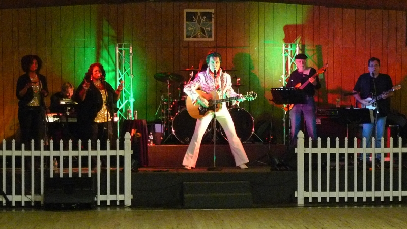 Elvis and his band